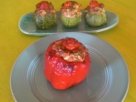Stuffie Peppers and Zucchini
