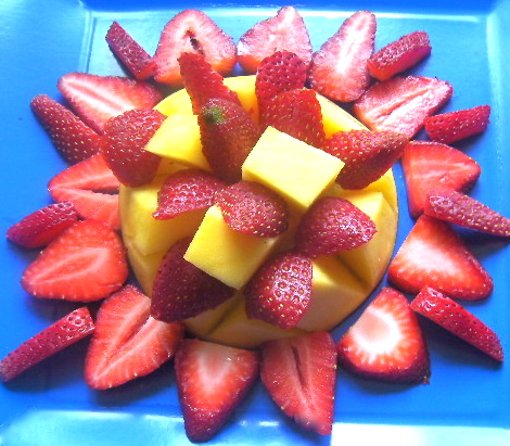 Mango, Strawberry Dessert