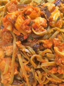 These resilient noodles hold up to tomato sauce and reheating!